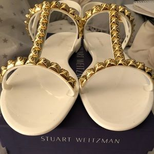 Stuart weitzman jelly rose sandals size 11